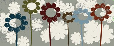 Floral background. Illustration, vector art Royalty Free Stock Images