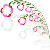 Floral Background. Abstract  illustration for esign Royalty Free Stock Image