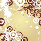 Floral background. For design use. Vector illustration Royalty Free Stock Photography