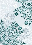 Floral background. Ornamental design, digital artwork, vector illustration royalty free illustration