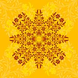 Floral background. Illustration of floral design with yellow background vector illustration
