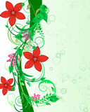 Floral background. For design use. Vector illustration Royalty Free Stock Photos
