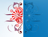 Floral Background. Abstract  illustration for design Stock Photo