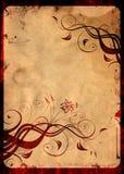 Floral background. Old paper, grunge floral background vector illustration