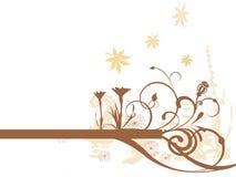 Floral background. Vector illustration of floral elements Stock Images