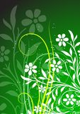 Floral background. Ornamental design, digital artwork royalty free illustration