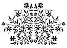 Floral background. Ornamental design, digital artwork stock illustration