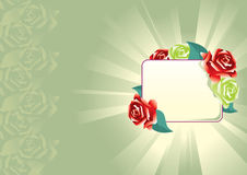 Floral background. Vector illustration a background with roses Royalty Free Stock Images