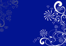 Floral Background. Floral design in blue background Royalty Free Stock Images