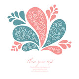Floral background. Stylish floral background,  illustration Stock Photography