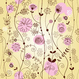 Floral background. Seamless floral background,  illustration Royalty Free Stock Photo
