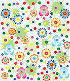 Floral background. Vector floral background with flowers and dots Stock Photography