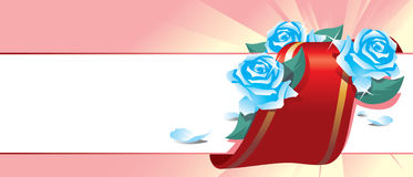 Floral background. Vector illustration a background with blue roses Royalty Free Stock Image