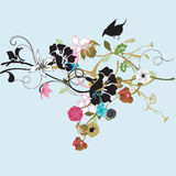 Floral background. Illustration of a floral background Royalty Free Stock Image