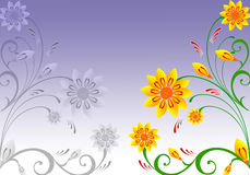 Floral Background. Abstract  illustration for design Stock Images
