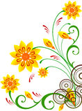 Floral Background. Abstract floral illustration for design Royalty Free Stock Photo