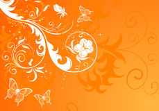 Floral background. With butterfly, element for design,  illustration Royalty Free Stock Image