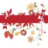 Floral background. Illustration of a floral background Stock Image