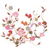 Floral background. Illustration of a floral background Royalty Free Stock Photography