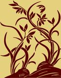 Floral background. A Ancient Traditional Artistic Floral background Royalty Free Stock Photography