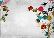 Floral background. Illustration of flowers on vintage paper Royalty Free Stock Photography