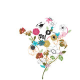 Floral background. Illustration of a floral background Stock Photos