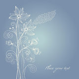 Floral background. Beauty greeting card or invitation royalty free illustration