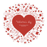 Floral background. Beauty valentine card Royalty Free Stock Photo