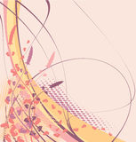 Floral background. Abstract floral background (pink and violet Stock Photos