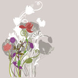Floral background. Illustration of a floral background Royalty Free Stock Photo