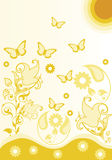 Floral background. Abstract illustration with floral motifs Royalty Free Stock Photo