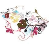 Floral background. Illustration of a floral background Stock Images