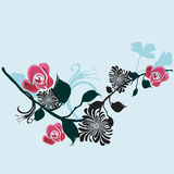 Floral background. Illustration of a floral background Stock Photography