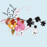 Floral background. Illustration of a floral background Royalty Free Stock Images