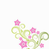 Floral background. Vector illustration for your design Stock Photography