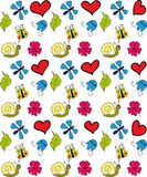 Floral background. Children floral background Vector Graphics Royalty Free Stock Photos