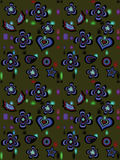 Floral background. Colored acid vector floral background Royalty Free Stock Photo