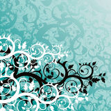 Floral background. (abstract vector ornament Royalty Free Stock Photos