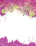 Floral background. Vector floral background with aquarelle drops Stock Photo
