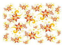 Floral Background. A neat looking background with flowers stock illustration