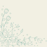 Floral background. With a place for your text Royalty Free Stock Photography