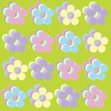 Floral Background. Abstract Background With Pastel Colored Pop Art Flowers royalty free illustration