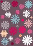 Floral Background. Abstract background with different colour flowers stock illustration