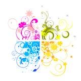 Floral background. Illustration of colorful floral designs Stock Image