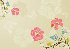 Floral background. With butterfly, element for design,  illustration Stock Images