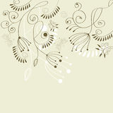 Floral background. Universal template for greeting card, web page, background Royalty Free Stock Photography