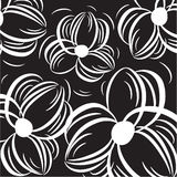Floral background. With hand drawn flowers Stock Image