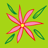 Floral background. Hand drawn composition, floral background, fresh  flower Stock Photography