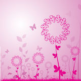 Floral background. With butterflys vector Stock Images