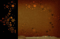 Floral background. Grunge floral background ideal for cards Royalty Free Stock Photos